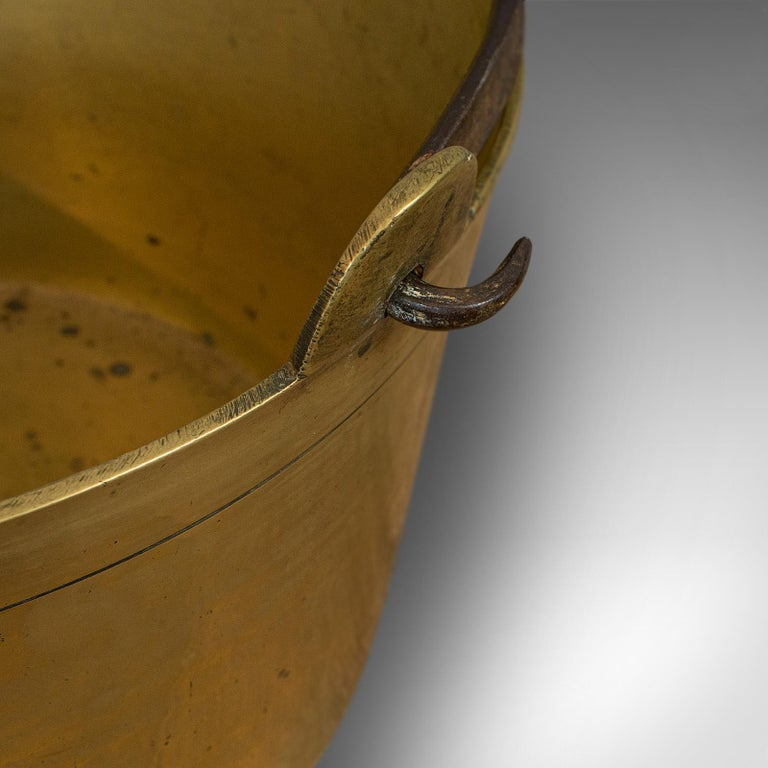 Antique Jam Pan, French, Solid Brass, Artisan Kitchen Pot, Victorian, circa 1900 For Sale 5