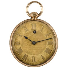Antique James Squire by Kendal Open Face Pocket Watch Rose Gold