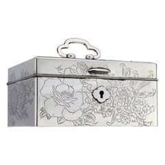 Antique Japanese 950. Silver Jewelry Box