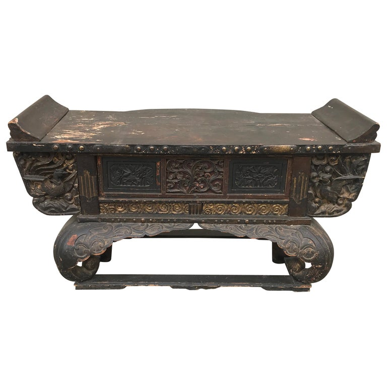 Antique Japanese Alter Table Console Edo Period