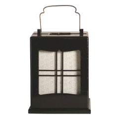 Antique Japanese Ariake Andon Lantern, Meiji Period