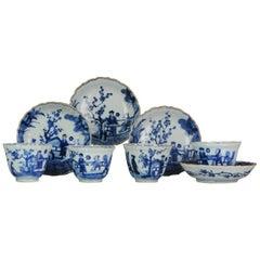 Antique Japanese, Arita, Rare Kakiemon Tea Set, Figures, Porcelain