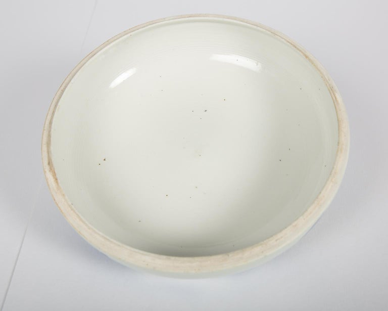 Antique Japanese Blue and White Porcelain Bowl circa 1760 In Excellent Condition For Sale In New York, NY
