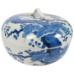 Antique Japanese Blue and White Porcelain Bowl