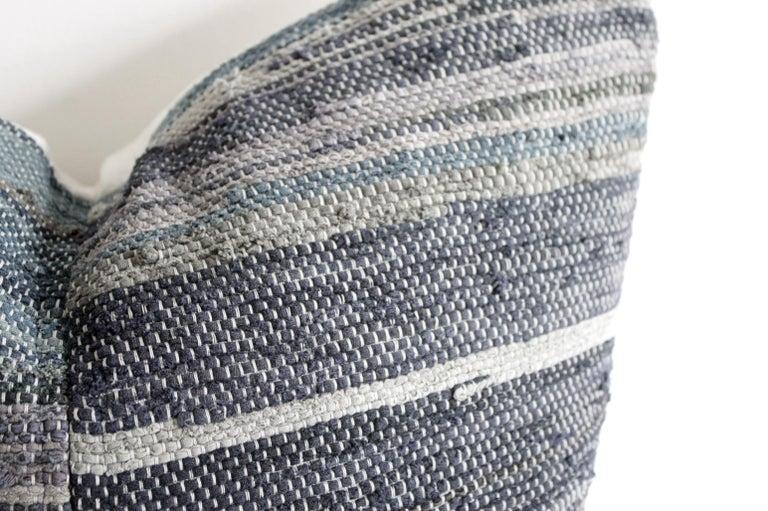 Antique Japanese Boro Indigo Pillow In Good Condition For Sale In Brea, CA