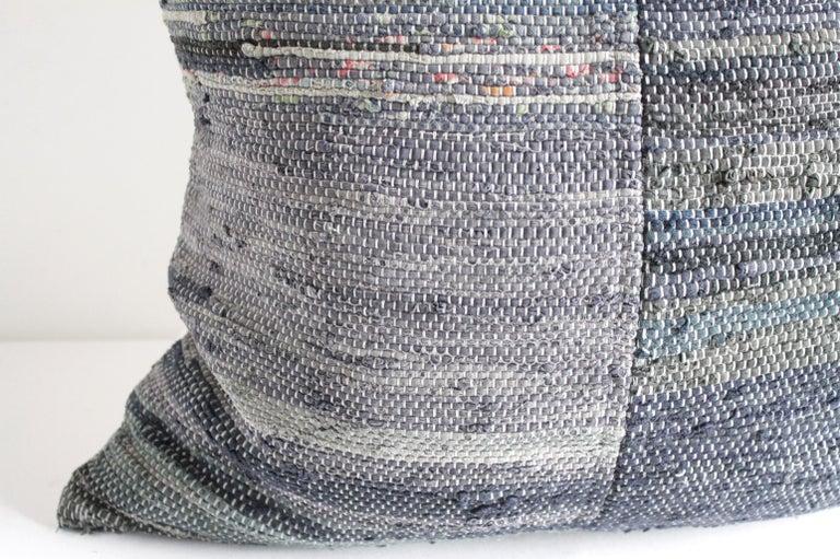 20th Century Antique Japanese Boro Indigo Pillow For Sale
