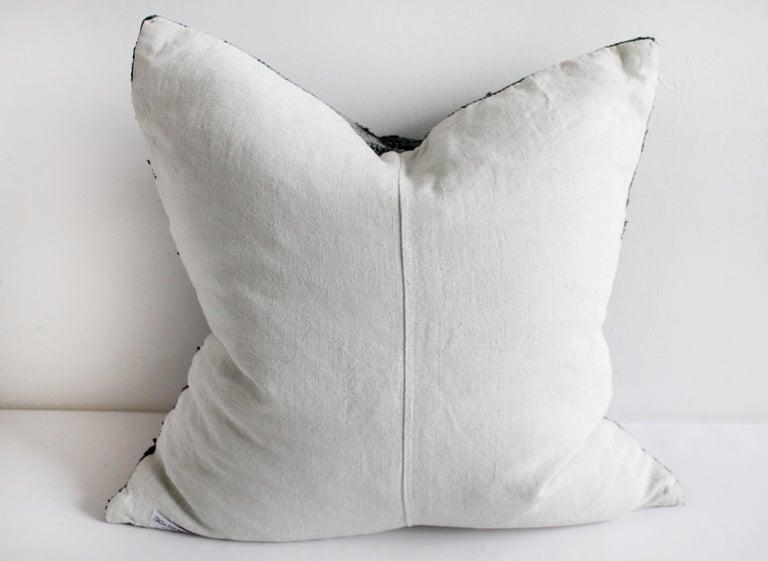 Antique Japanese Boro Indigo Pillow For Sale 1