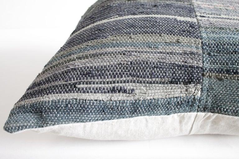 Antique Japanese Boro Indigo Pillow For Sale 2