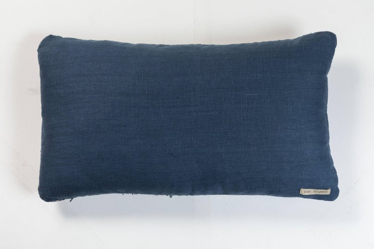 20th Century Antique Japanese Boro Textile Pillow  For Sale