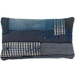 Antique Japanese Boro Textile Pillow