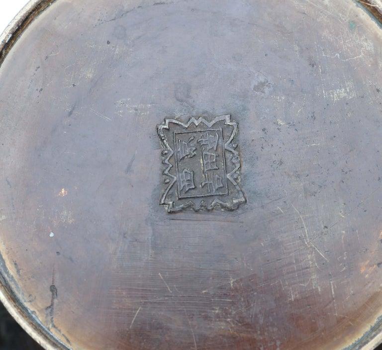 Antique Japanese Bronze Vase Meiji Period For Sale 3