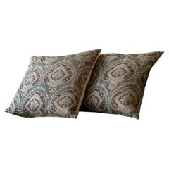 Antique Japanese Calico Print Pillow