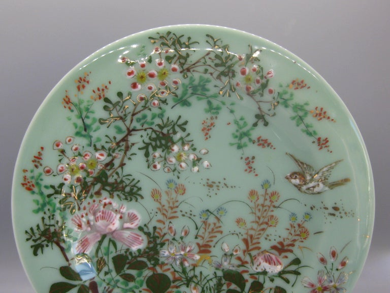 Exquisite antique Japanese celadon porcelain