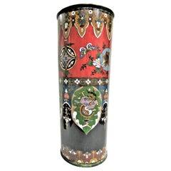 Antique Japanese Cloisonné Enamel Stick Stand