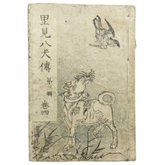 Antique Japanese Epic Novel Book Edo Period, circa 1819