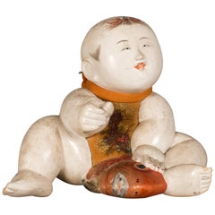 Antique Japanese Gosho Ningyo 'Court Doll'