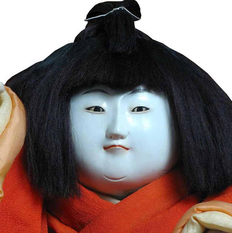 Antique Japanese Gosho Ningyo Palace Doll In Good Condition For Sale In New York, NY