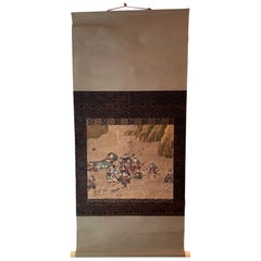 Antique Japanese Hanging Scroll Attributed to Iwasa Matabei