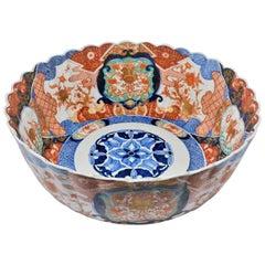 Antique Japanese Imari Fluted Bowl