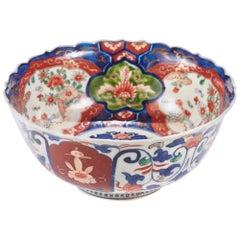 Antique Japanese Imari Lotus Shaped Bowl
