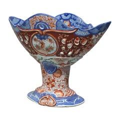 Antique Japanese Imari Porcelain Reticulated Compote, circa 1900