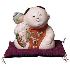 Antique Japanese Kofuku-no-inori Gosho Ningyo, Edo Period