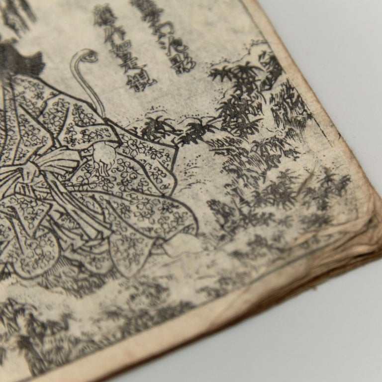 Antique Japanese Kusazoshi Book Edo Period, circa 1860 For Sale 5