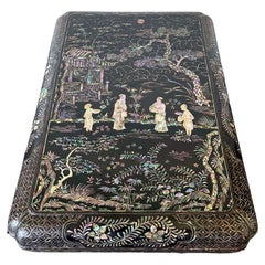 Antique Japanese Lacquer and Inlay Box from Ryukyu Island