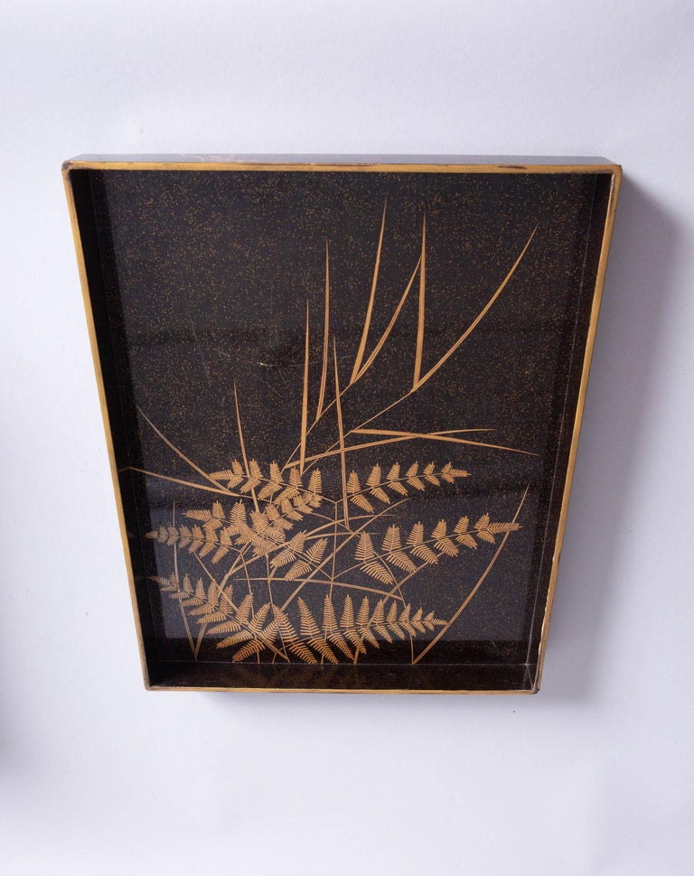 Antique Japanese Lacquer Box with Plumb, Bamboo, and Pine For Sale 6