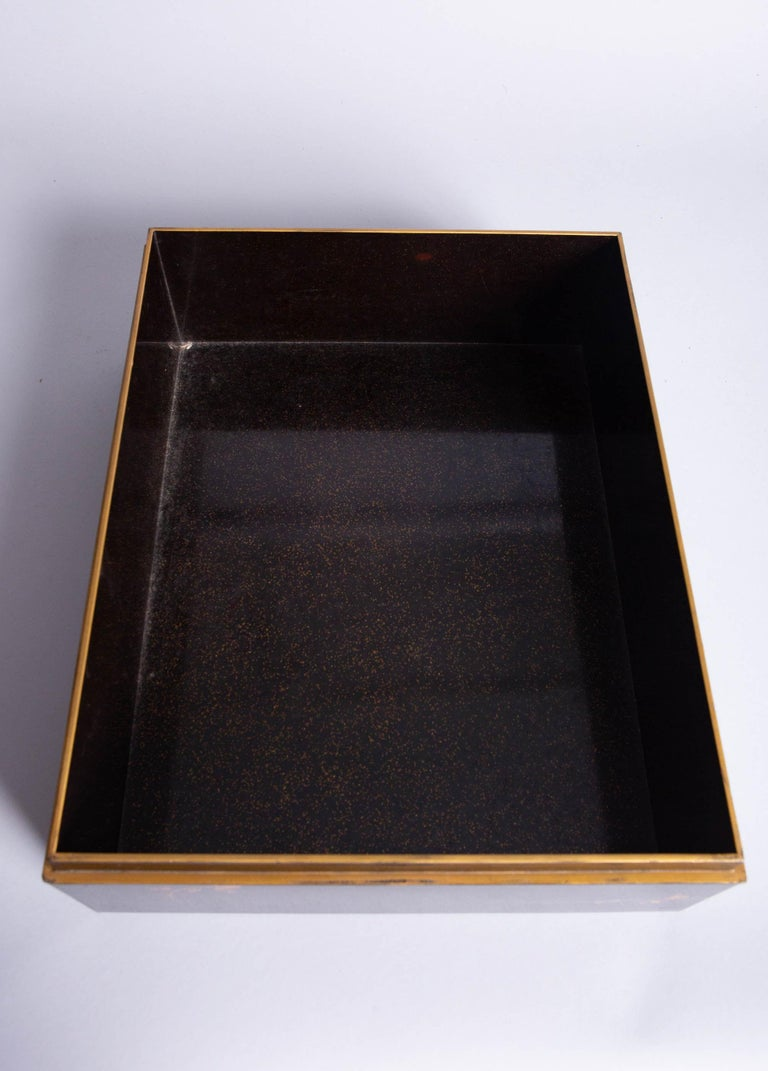 Antique Japanese Lacquer Box with Plumb, Bamboo, and Pine For Sale 5