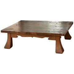 Antique Japanese Low Table, Quarter-Sawn Pine