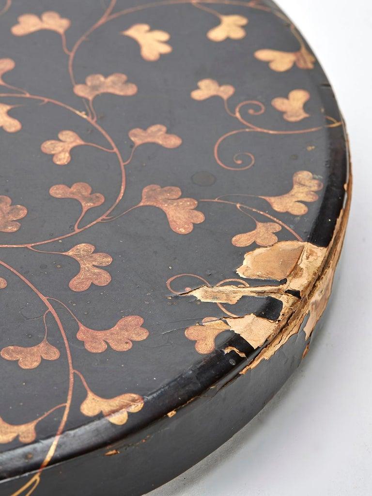 Antique Japanese Meiji Bronze Mirror 19th Century For Sale 2
