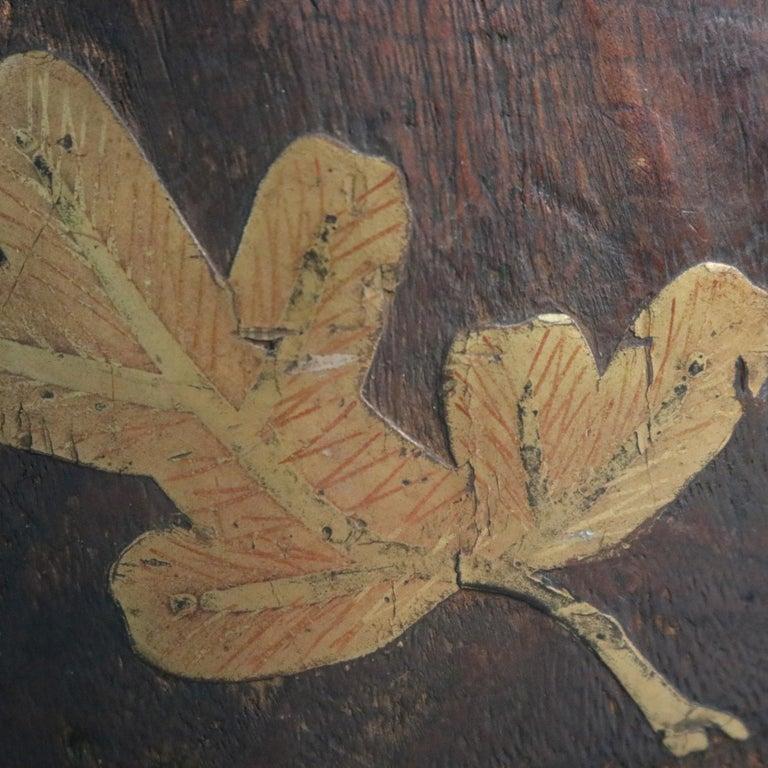 Antique Japanese Meiji Carved Wooden Jardinière with Bronzed Mounts 1