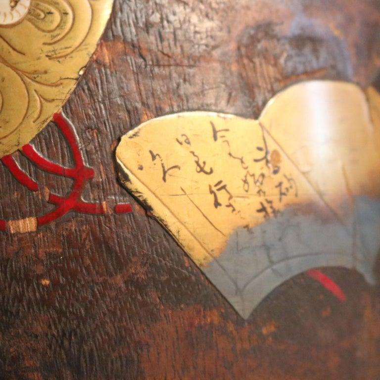 Antique Japanese Meiji Carved Wooden Jardinière with Bronzed Mounts 2