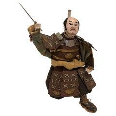 Antique Japanese Meiji Period Kneeling Samurai Warrior, Circa 1870-1880