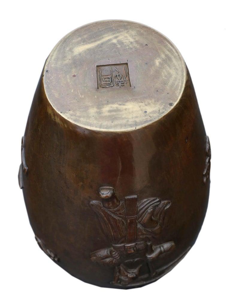 Antique Japanese Meiji Period Bronze Vase For Sale 4