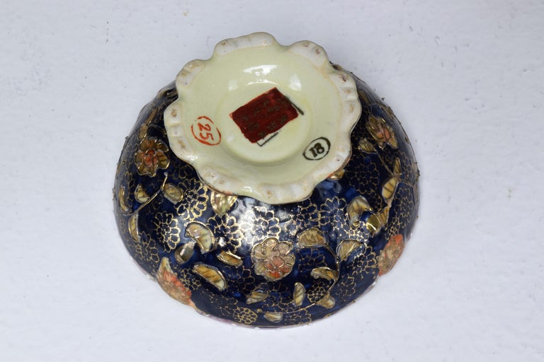 Pair of Antique Japanese Meiji Period Porcelain Trinket or Jewelry Boxes For Sale 1