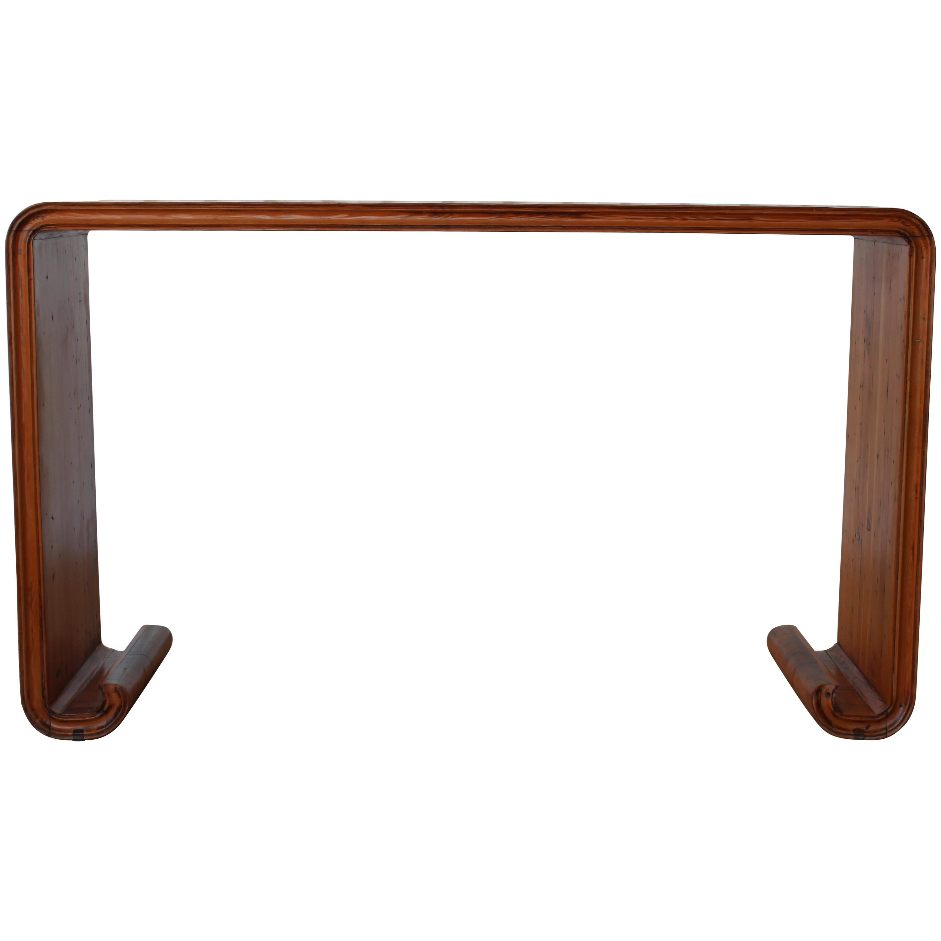 Antique Japanese Pine Console Table