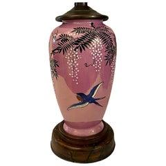 Antique Japanese Porcelain Table Lamp