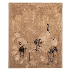 Antique Japanese Rope Embroidery Tapestry