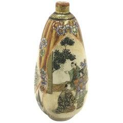 Antique Japanese Satsuma Vase Signed Shuzan