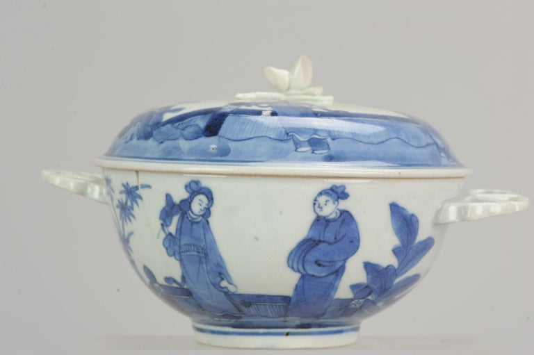 Antique Japanese Tureen circa 1680-1710 Arita Japan Porcelain Tureen For Sale 7