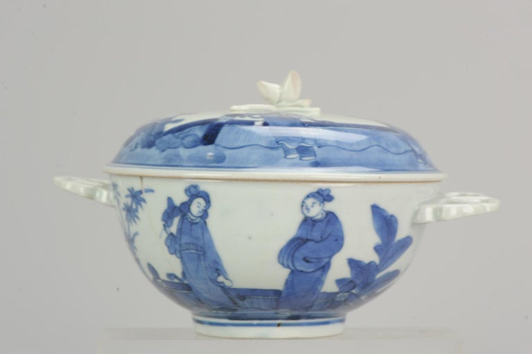Antique Japanese Tureen circa 1680-1710 Arita Japan Porcelain Tureen For Sale 8