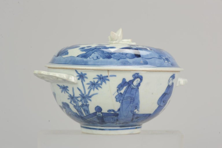 Antique Japanese Tureen circa 1680-1710 Arita Japan Porcelain Tureen For Sale 9