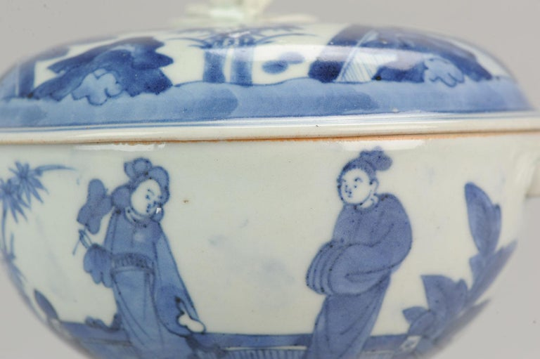 Antique Japanese Tureen circa 1680-1710 Arita Japan Porcelain Tureen For Sale 10