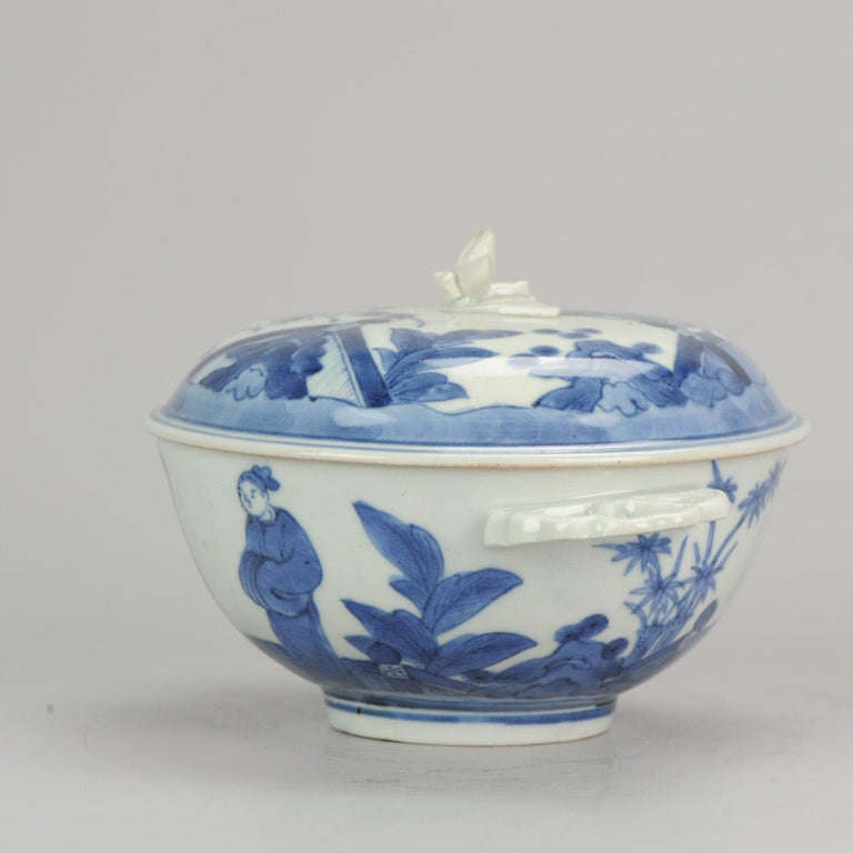 Antique Japanese Tureen circa 1680-1710 Arita Japan Porcelain Tureen In Good Condition For Sale In Amsterdam, Noord Holland