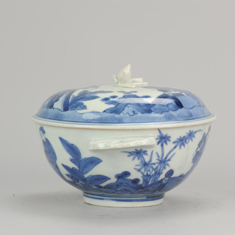 17th Century Antique Japanese Tureen circa 1680-1710 Arita Japan Porcelain Tureen For Sale