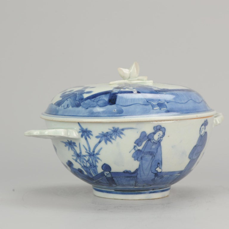 Antique Japanese Tureen circa 1680-1710 Arita Japan Porcelain Tureen For Sale 1