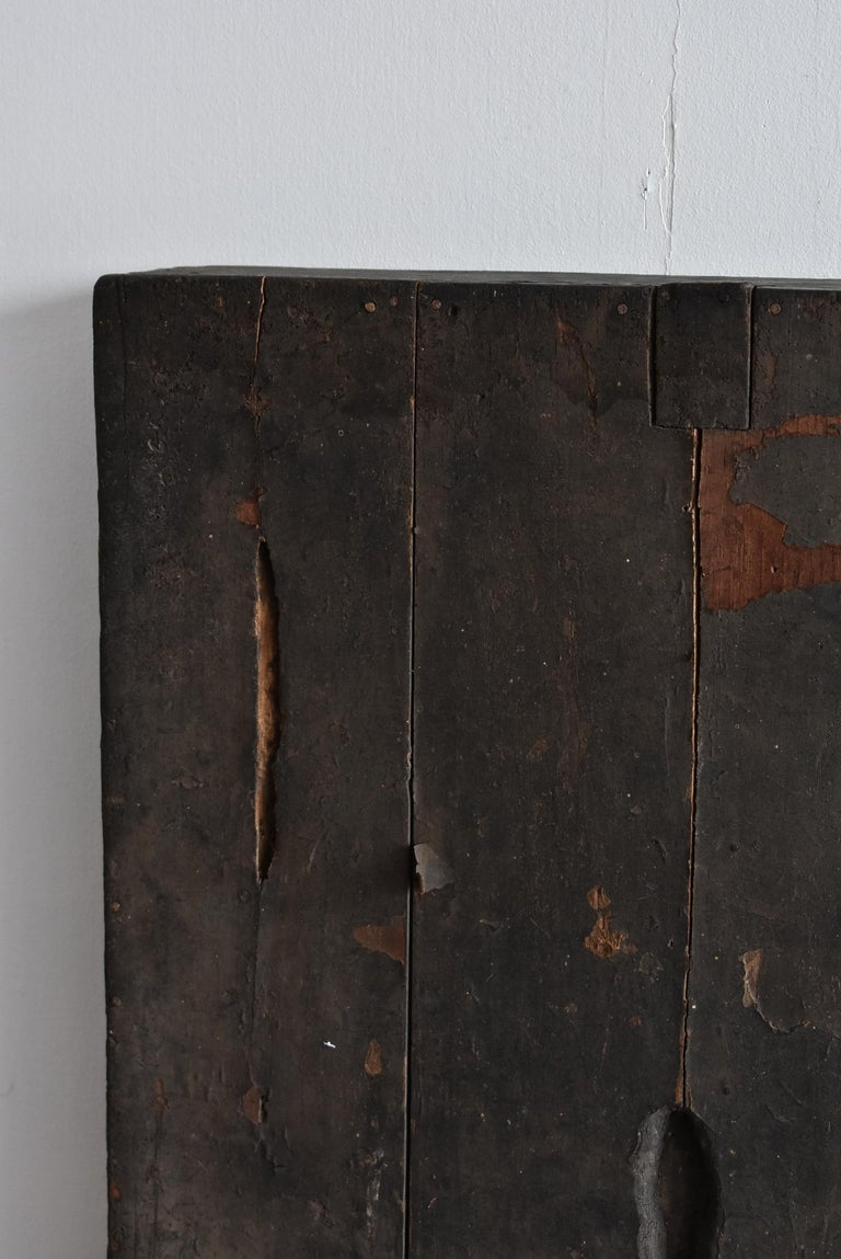 Other Antique Japanese Wooden Box Lid / Late Edo-Meiji Period / like a Painting For Sale