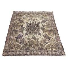 Antique Jaquar Tapestry Tablecloth